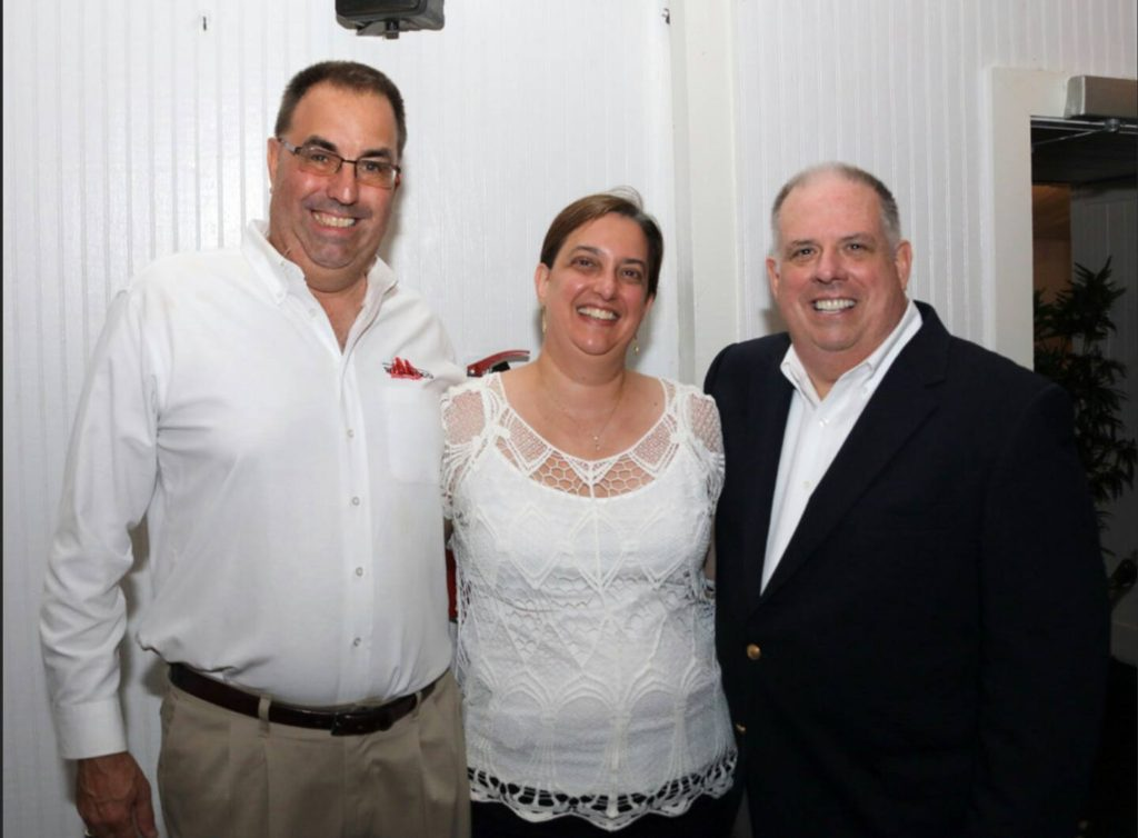 Larry Hogan Maryland Governor at the Wellwood with owner Larry Metz and Angela