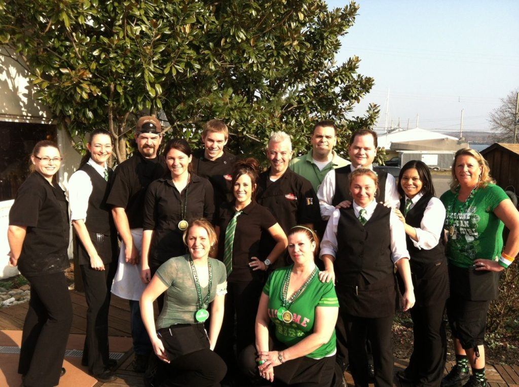 Summer staff at The Wellwood Restaurant in MD